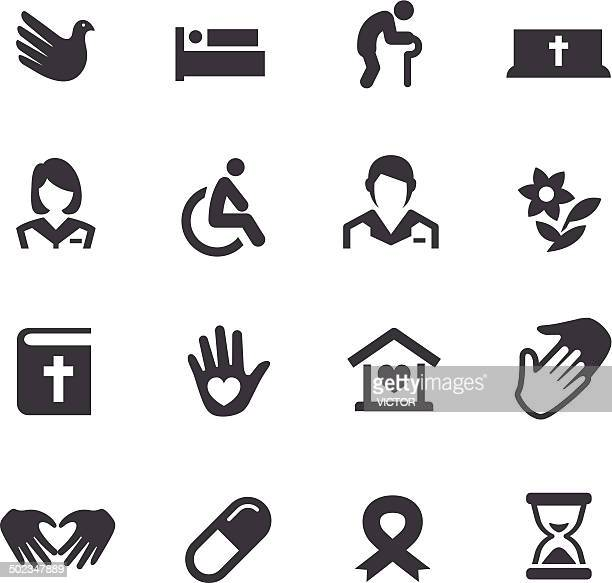 hospice care icons - acme series - carer stock illustrations, clip art, cartoons, & icons