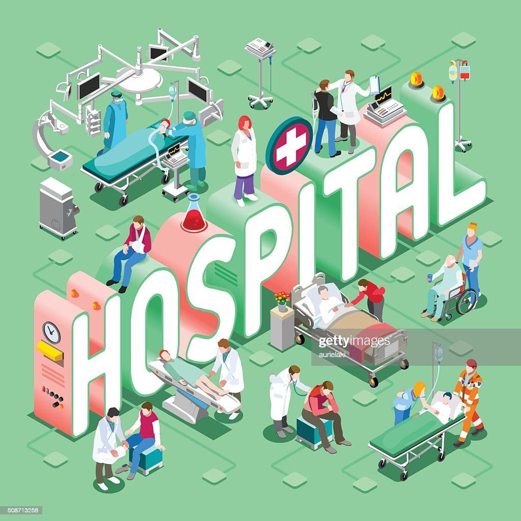 Hospital 01 Concept Isometric