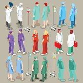 Hospital 21 People Isometric