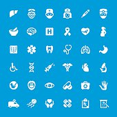 Hospital And Medicine vector icons set