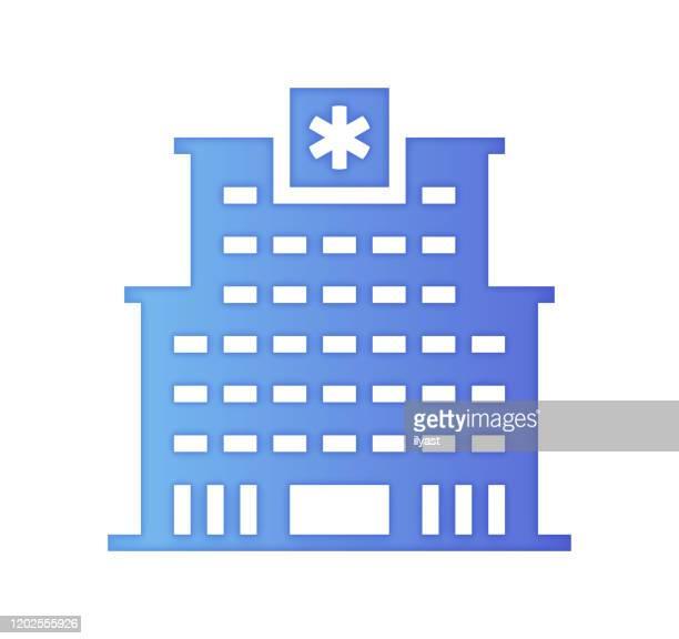 病院オートメーショングラデーションカラー&ペーパーカットスタイルアイコンデザイン - ロボット手術点のイラスト素材/クリップアート素材/マンガ素材/アイコン素材