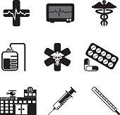 Hospital / Healthcare Icon Set
