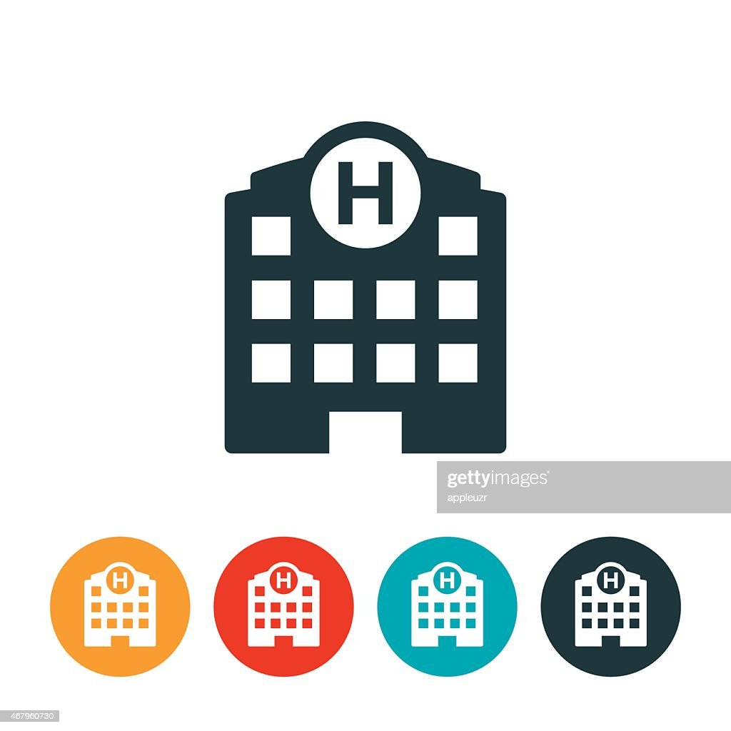 Hospital Icon : Stock Illustration