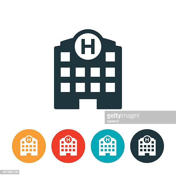 stockillustraties, clipart, cartoons en iconen met hospital icon - ziekenhuis