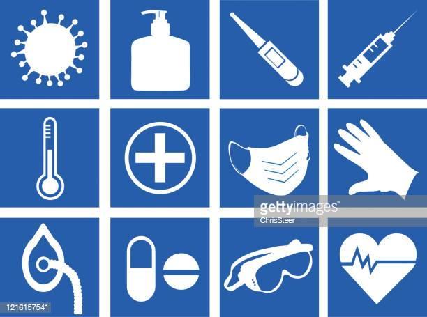 hospital icons - glove stock illustrations