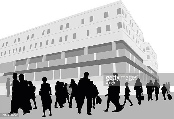 Hôpital en dehors de la foule