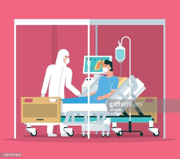 hospital - quarantine - hospital stock illustrations