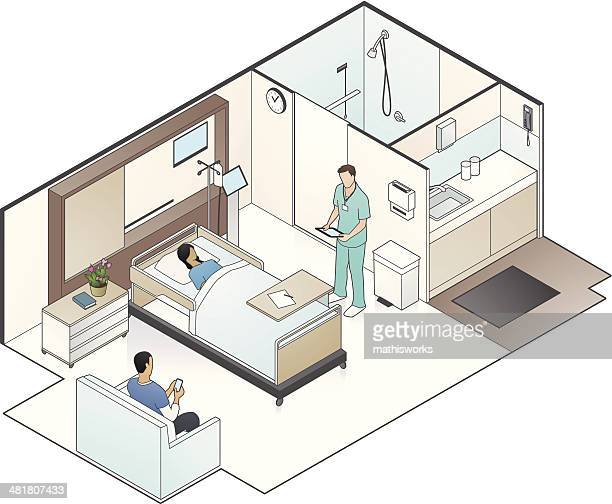 Hospital Room Illustration