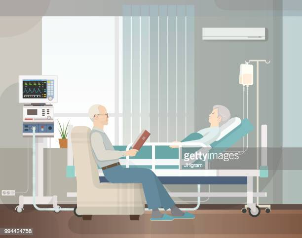 hospital room - medical ventilator stock illustrations, clip art, cartoons, & icons