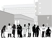 Hospital Staff And Patients