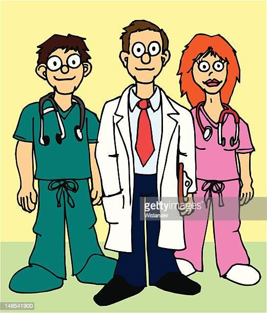 hospital staff - assistant stock illustrations, clip art, cartoons, & icons