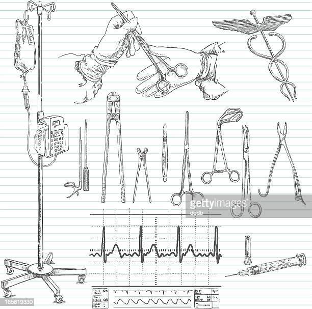 手術落書きスケッチ病院