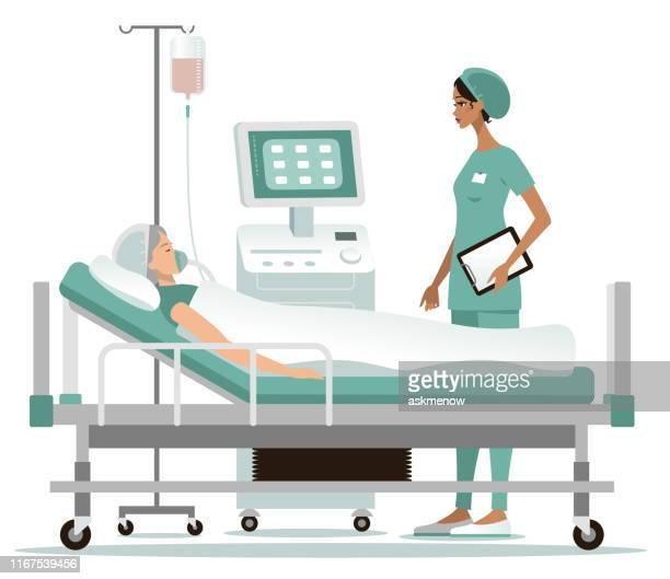 hospital - critical care stock illustrations