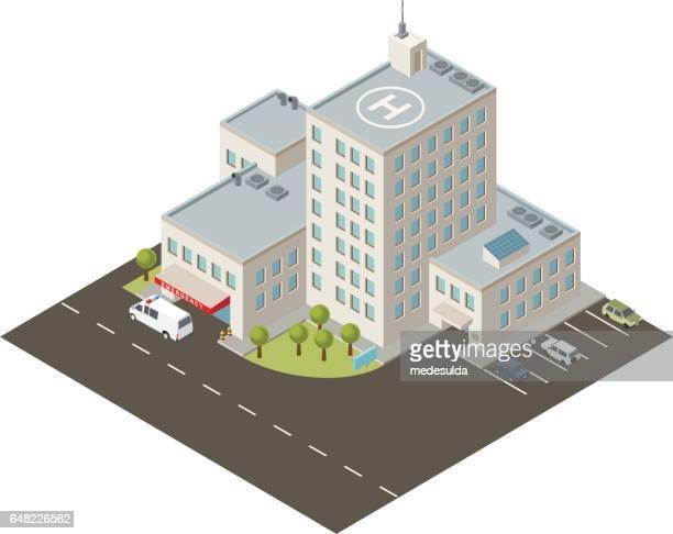 hospital - entrance stock illustrations, clip art, cartoons, & icons