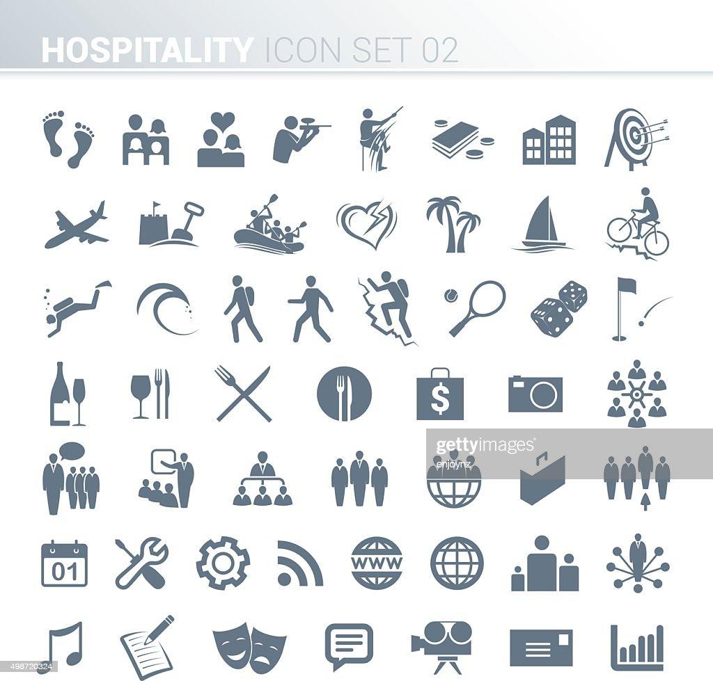 Hospitality Aktivität Symbole : Stock-Illustration