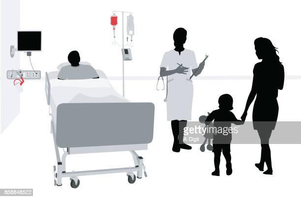 入院した小児関係母