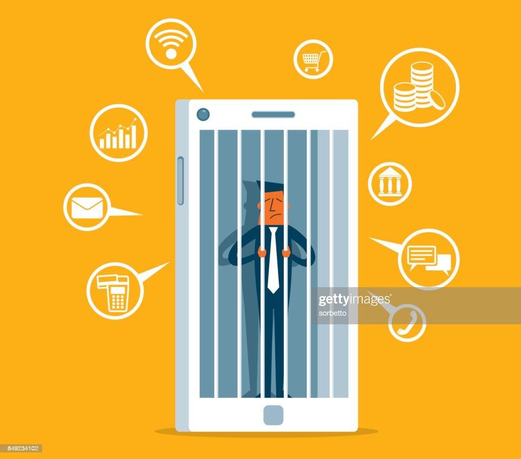 Hostage of modern technologies - Businessman