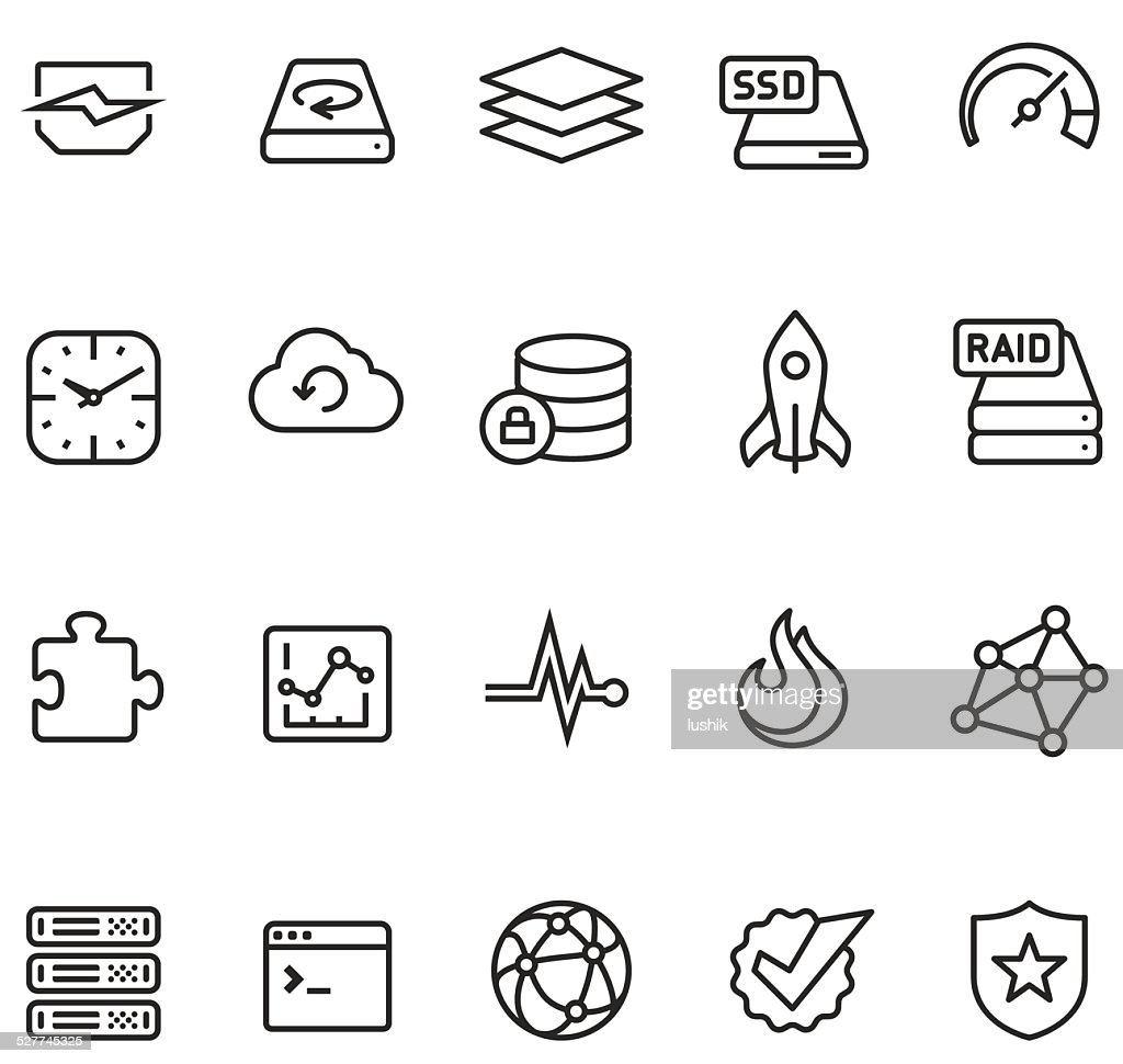 Hosting and storage icon