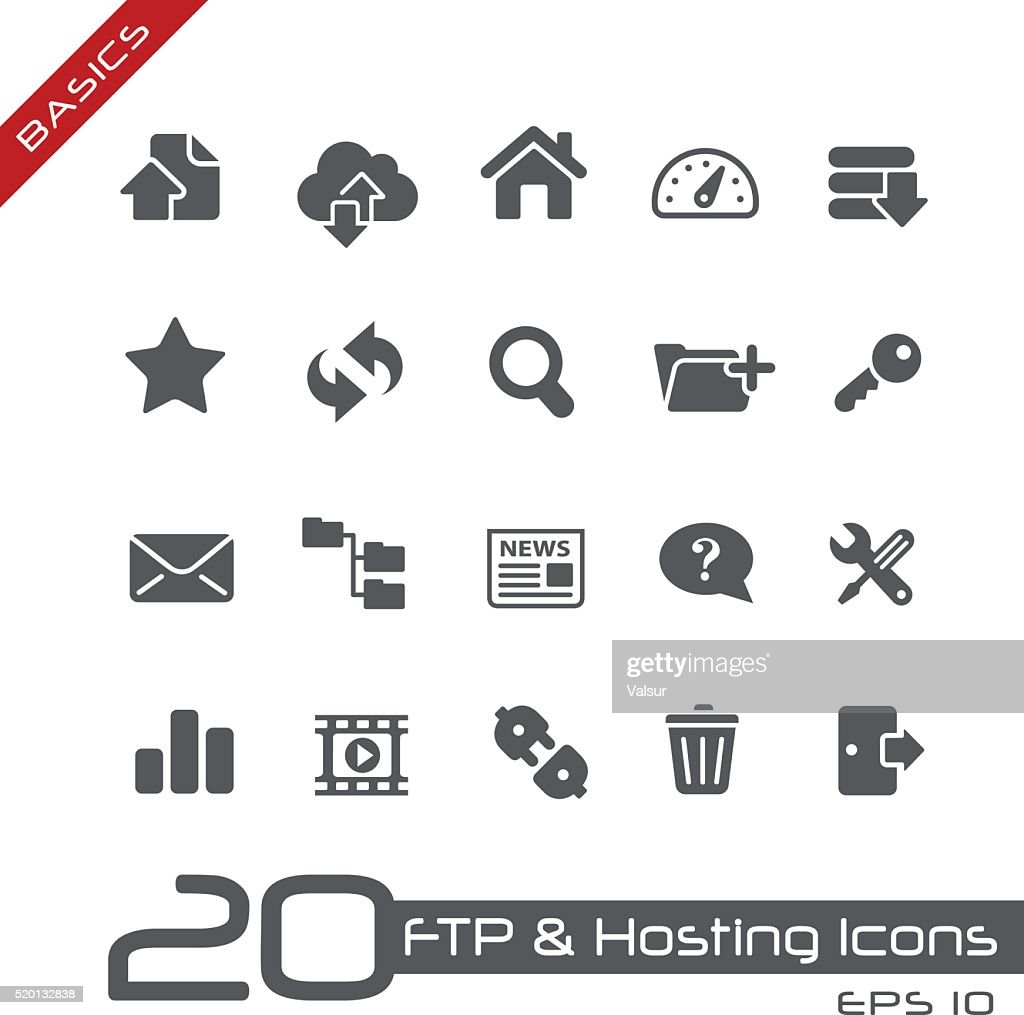 FTP & Hosting Icons - Basics