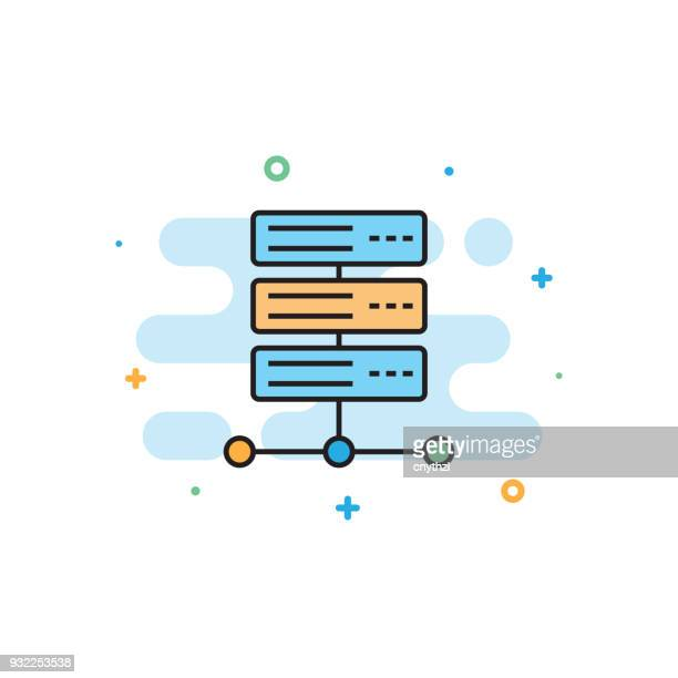 Hosting Service Flat Line Icon