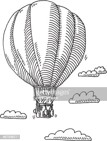 how to draw a hot air balloon in illustrator