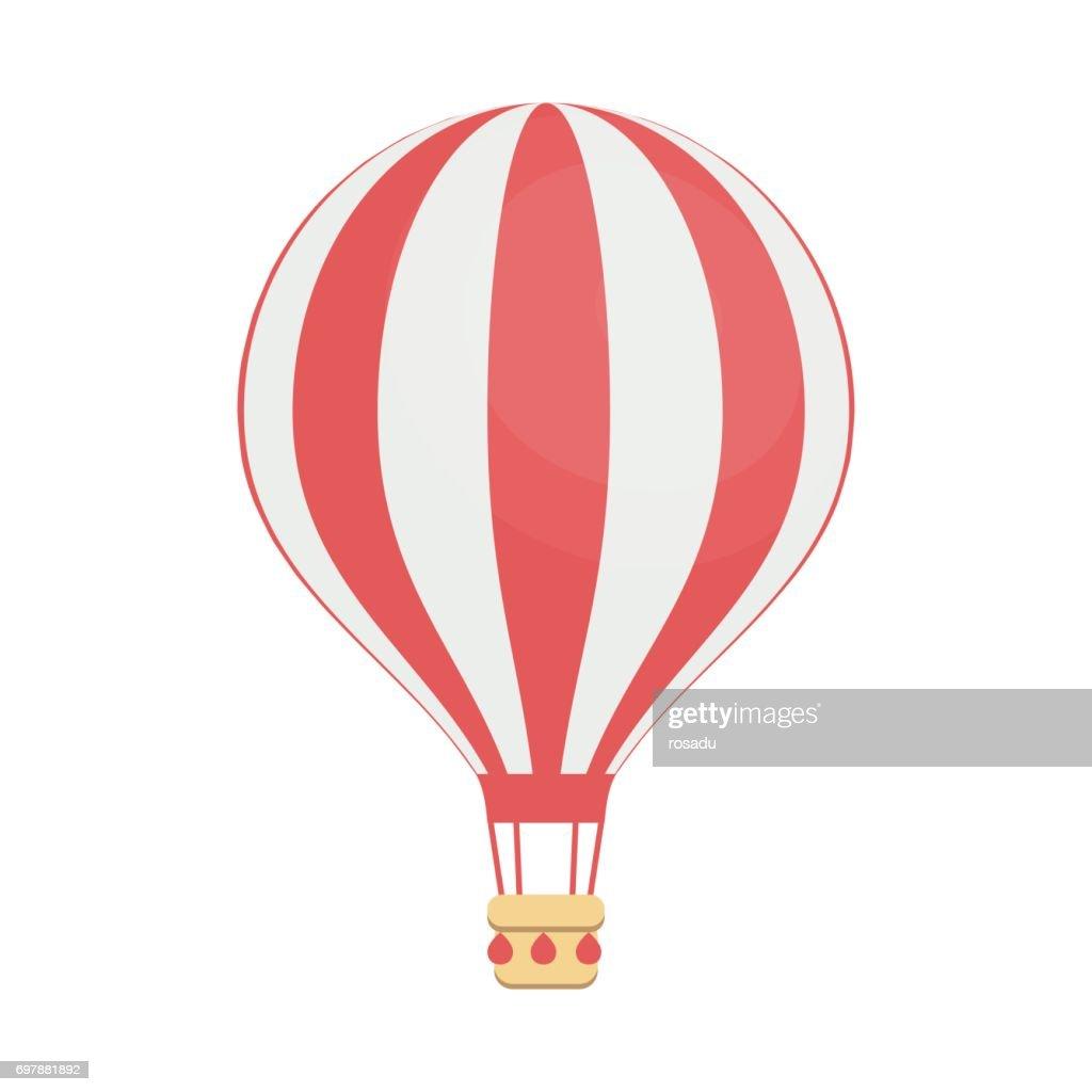 Hot air balloon, isolated