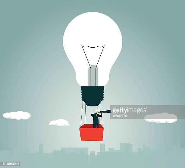 Heißluftballon, Strategie, Lösung, Glühbirne, Lampe, Fliegen, Abenteuer