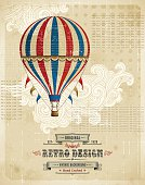 Hot Air Balloon Vintage Background