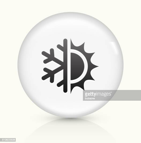 Hot and Cold icon on white round vector button