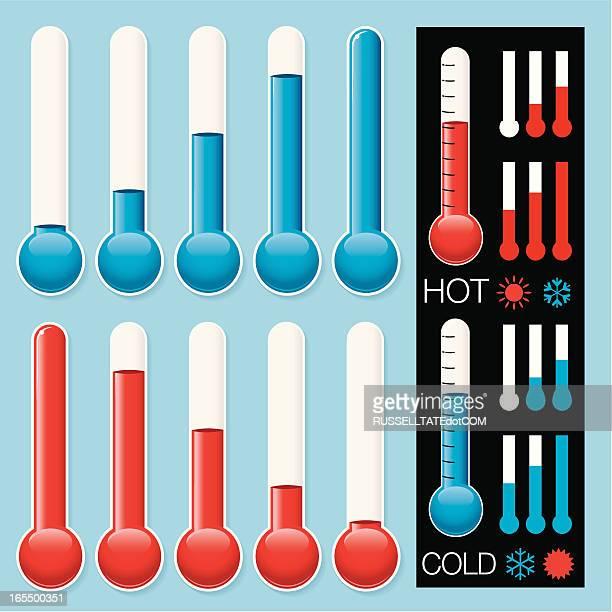 ホット&コールド温度ゲージ - 熱映像点のイラスト素材/クリップアート素材/マンガ素材/アイコン素材