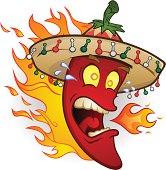 Hot Chili Pepper in a Sombrero