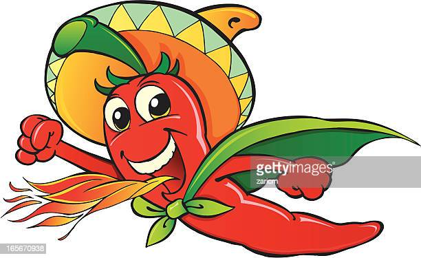 hot chili pepper - red chili pepper stock illustrations, clip art, cartoons, & icons