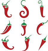 Hot chili pepper vector isolated