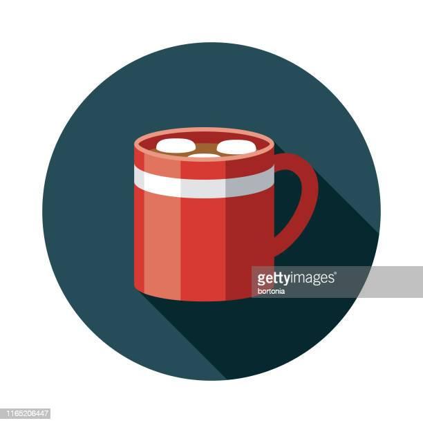 ilustraciones, imágenes clip art, dibujos animados e iconos de stock de icono de comida de vacaciones de chocolate caliente - chocolate caliente