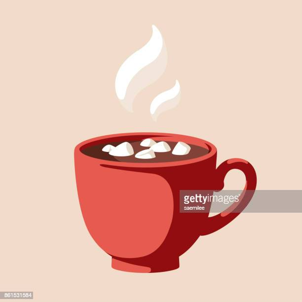 hot chocolate - temperature stock illustrations