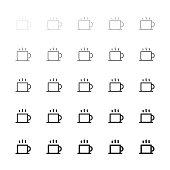 Hot Coffee Icons - Multi Line Series
