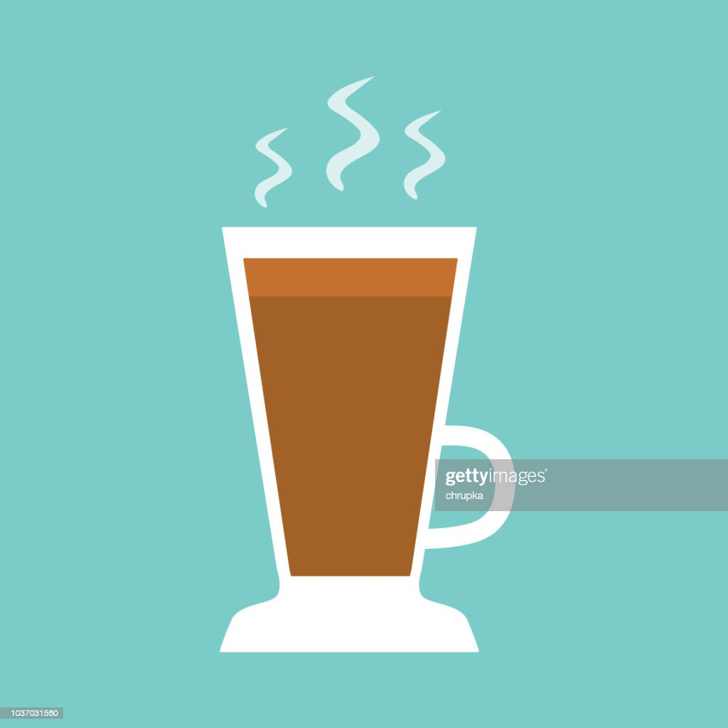 hot coffee latte cup icon