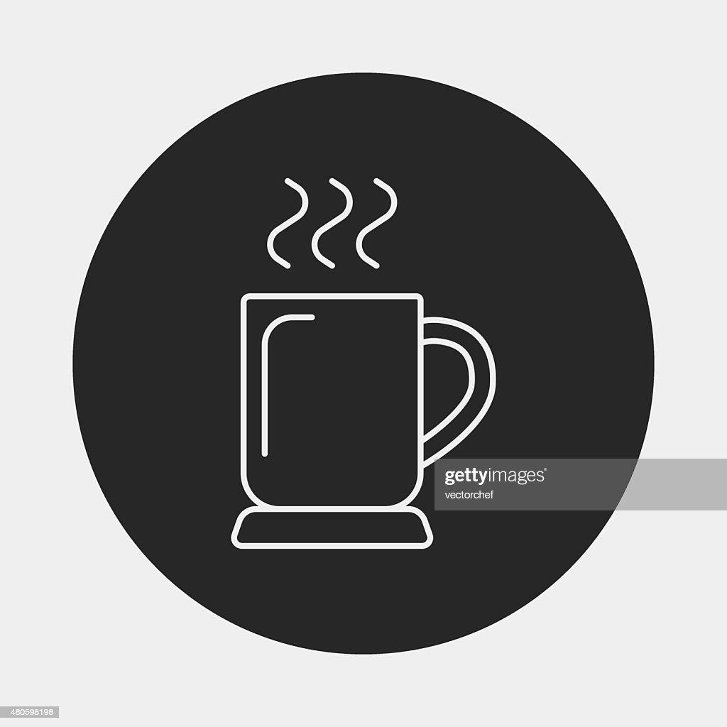 hot coffee line icon : Vector Art