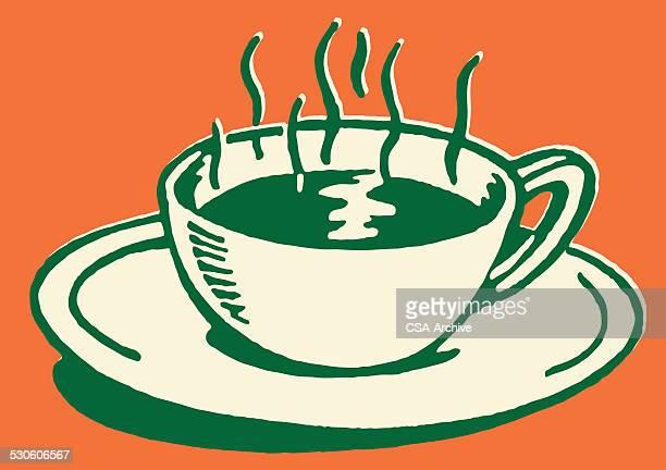 hot coffee - caffeine stock illustrations, clip art, cartoons, & icons