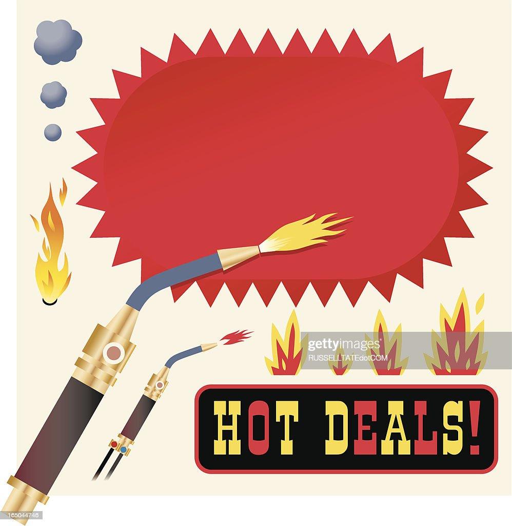 Oferta con opciones frías y calientes : Ilustración de stock