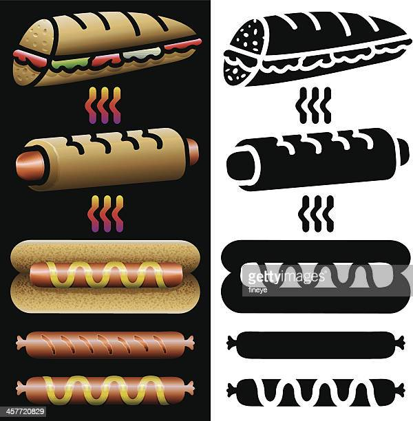 Hot Dogs and Panini Icons