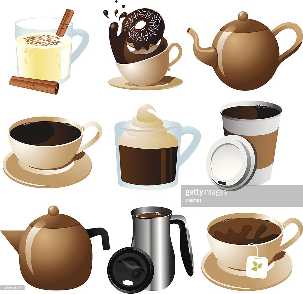 Hot drink icons