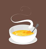 Hot organic carrot soup.