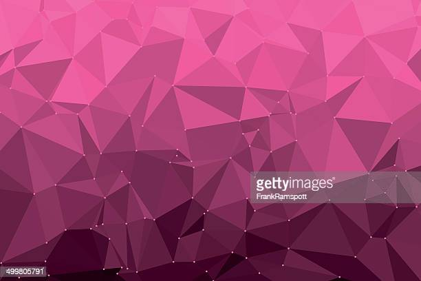 hot pink triangle polygon pattern - hot pink stock illustrations