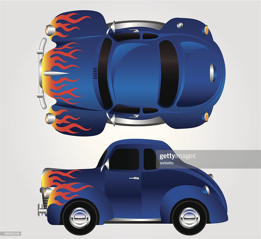 Hot Rod Race Car Vector Art | Getty Images
