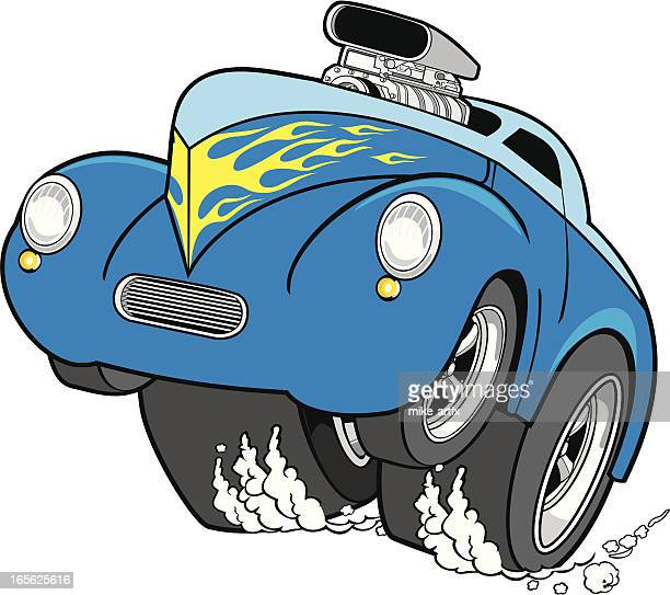 hot rod race - supercharged engine stock illustrations, clip art, cartoons, & icons