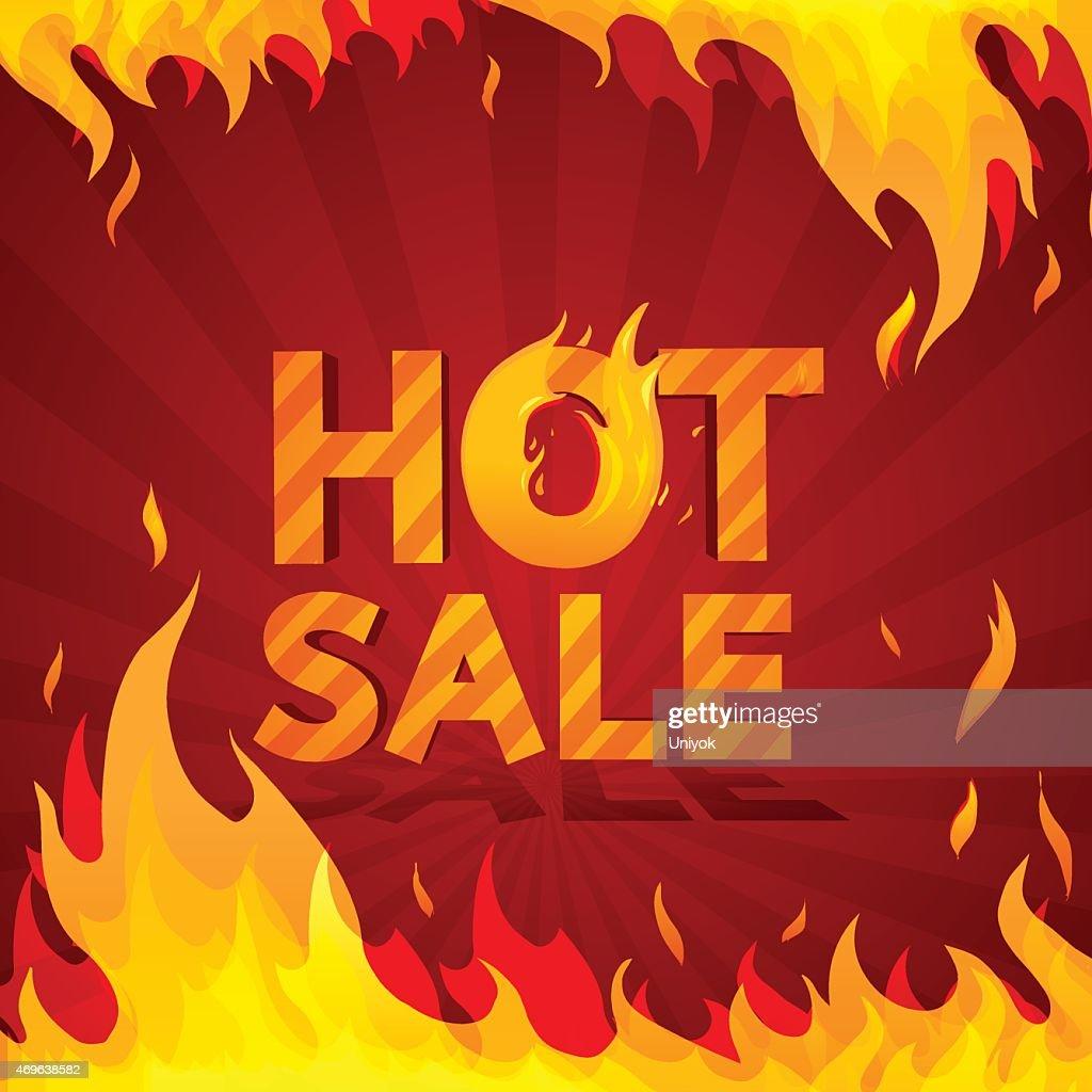 Hot sale design template. Frame of fire.
