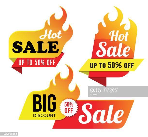 heißer verkauf tags - wärme stock-grafiken, -clipart, -cartoons und -symbole