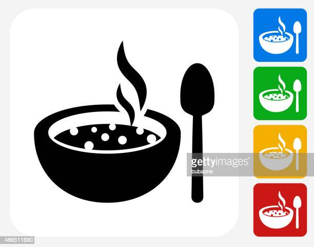 hot soup icon flat graphic design - steam stock illustrations