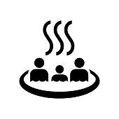 hot spring,onsen,bath icon / public information symbol